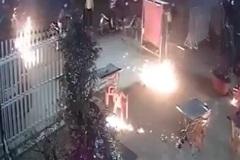 Hỗn chiến tại quán nhậu, chủ quán ném bom xăng chống trả