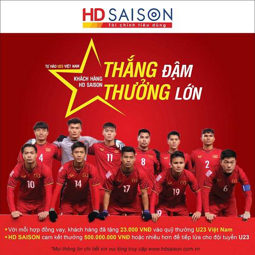 HD SAISON tuyên bố 'tiếp lửa' U23 Việt Nam 500 triệu đồng