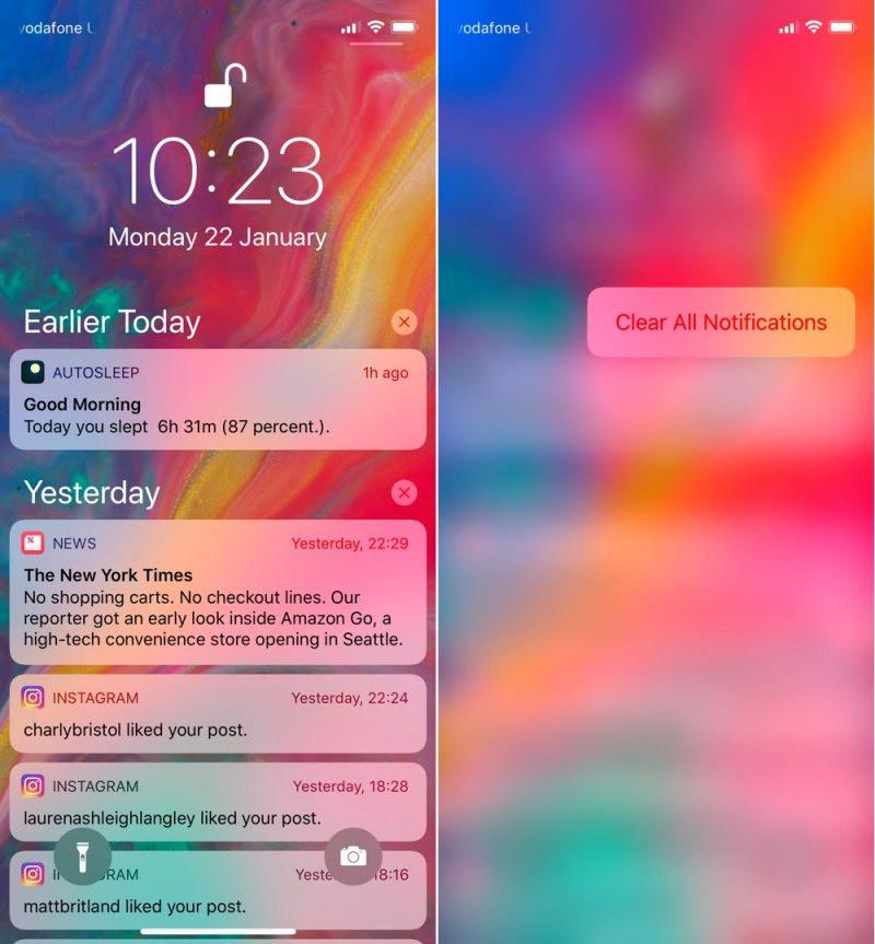 iOS 11, iPhone