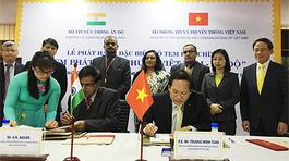 Phát hành bộ tem đặc biệt 'Tem phát hành chung Việt Nam - Ấn Độ'
