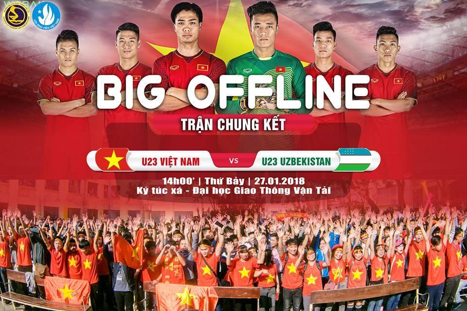 Sinh viên lên kế hoạch 'độc'cổ vũ U23 Việt Nam chung kết