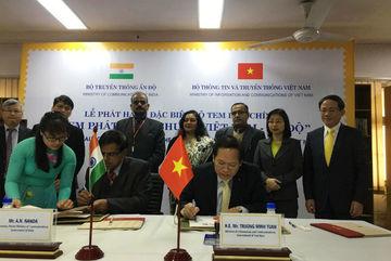 Phát hành tem chung Việt Nam - Ấn Độ