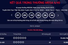 Tỷ phú Vietlott mới: Trúng độc đắc Jackpot hơn 75 tỷ đồng