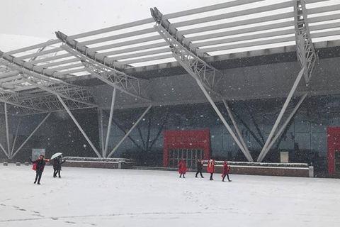 Sân Thường Châu ngập tuyết, CĐV Việt Nam thấp thỏm