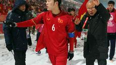 Rưng rưng hình ảnh U23 Việt Nam đi quanh sân cảm ơn người hâm mộ