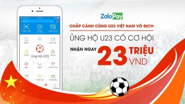 U23 Việt Nam, ủng hộ đội tuyển, Zalo Pay,