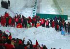 Phút tri ân CĐV trong tuyết của U23 Việt Nam trên sân Thường Châu