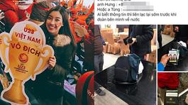 Hoa hậu Mỹ Linh gặp sự cố sau trận chung kết của U23 Việt Nam
