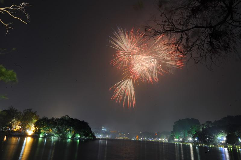 Hà Nội, Tết Mậu Tuất 2018, Tết Nguyên đán, pháo hoa