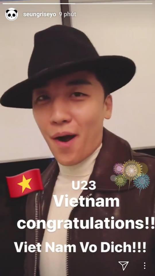 Seungri (BIGBANG) chúc mừng đội U23 Việt Nam bằng tiếng Việt