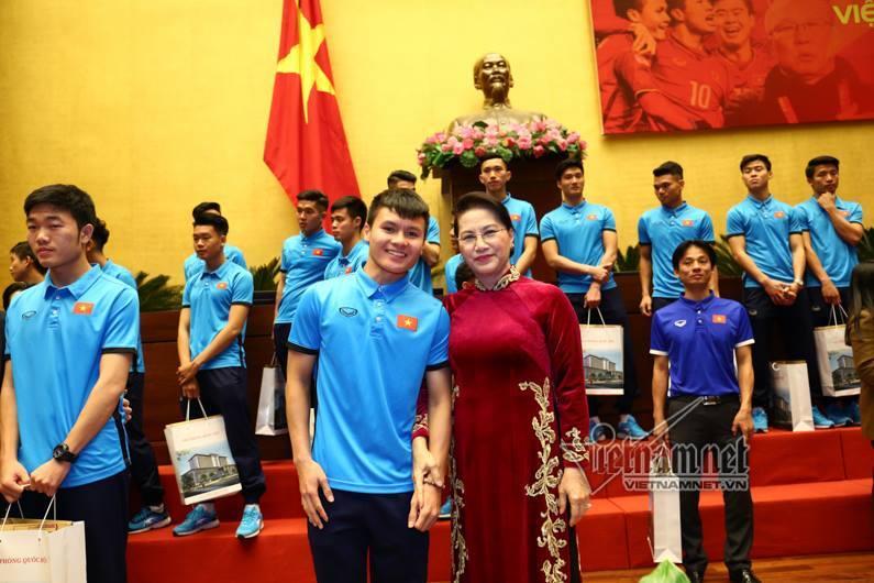 U23 Việt Nam, Quang Hải, Xuân Trường, bóng đá Việt Nam, Chủ tịch Quốc hội, Nguyễn Thị Kim Ngân
