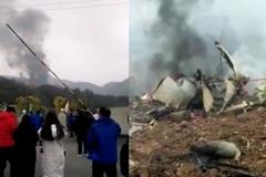 Phi cơ quân sự Trung Quốc rơi trong lúc bay huấn luyện