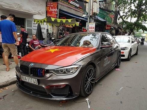 U23 Việt Nam, xe độ, trang trí ô tô