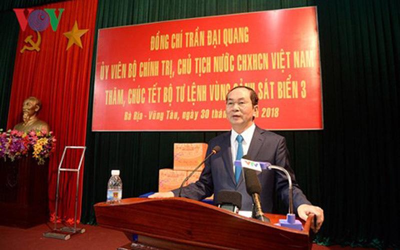 Chủ tịch nước Trần Đại Quang, Trần Đại Quang, biển đảo