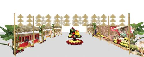 Đặc sản ba miền hội tụ trong Chợ Tết Ecopark