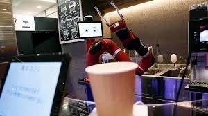 robot bán cafe