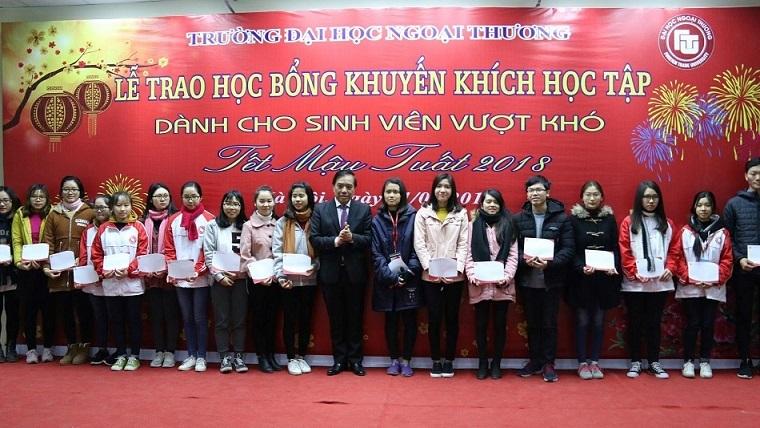 học bổng, Trường ĐH Ngoại thương