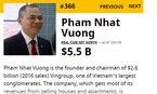 Một tháng kiếm 1,3 tỷ USD, Phạm Nhật Vượng giàu gấp đôi Donald Trump