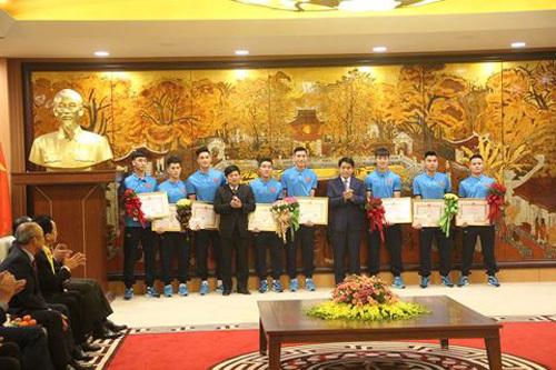 Chủ tịch Hà Nội gặp mặt, khen thưởng U23 Việt Nam